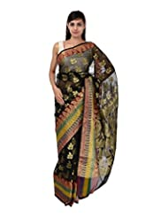 A1 Fashion Women Brasso & Net Black Saree With Blouse Piece - B00VUS2PSG
