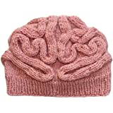 Knit Pink Brain Hat
