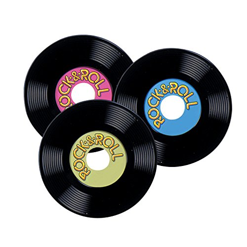 Personalize Plastic Records Party Accessory (1 count) (3/Pkg)