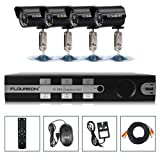 Top Quality FLOUREON 1 X 8CH DVR + 4 X Outdoor Camera + 1T Hard Disk HDMI WiFi 3G Security Kit UK