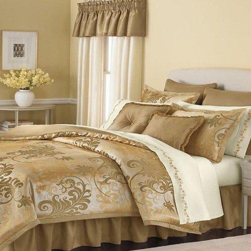 Martha Stewart Florentine Swirl Queen 24 Piece Comforter Bed In A Bag Set