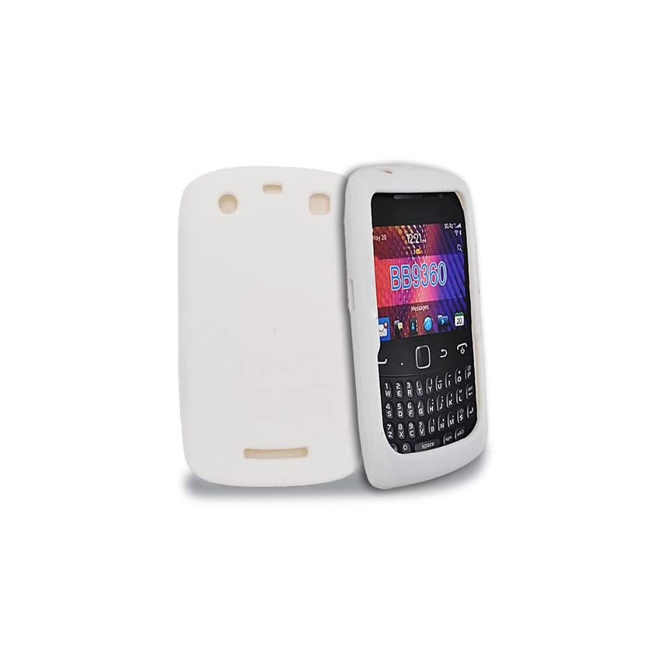 Mobile Palace  White silicone case cover for blackberry