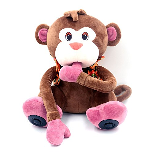 12-Inches-Multifunctional-Monkey-Plush-Toy-Bluetooth-Wireless-Micro-Sd-Memory-Card-Stereo-Speaker-w-Fm-Radio-Microphone-Rechargeable-Battery-Gift-Retail-Package