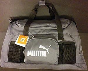 Buy 20 Puma Accelerator Blue Gray Gym Duffel Bag by PUMA