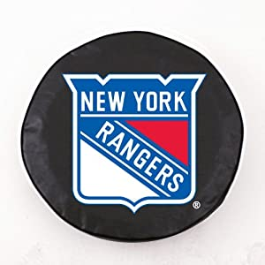 "New York Rangers Black ""Exact Fit"" Tire Cover - A"