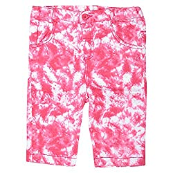 Beebay Cotton Dr Pink Casual Shorts For Girls ( Size-18-24 Months )