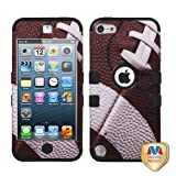 MYBAT Football/Black TUFF Hybrid Phone Protector Cover for APPLE iPod touch (5th generation)
