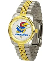 Kansas Jayhawks KU NCAA Mens Steel Executive Watch
