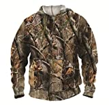 Realtree Hooded Jacket, Womens LG Mens MED Unisex Full Zip Hooded Sweat Jacket Hoodie