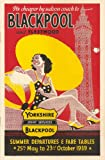 C1939 BLACKPOOL, Yorkshire Vintage Rail Travel Advertising Artwork 250gsm ART CARD Gloss A3 Reproduction Poster