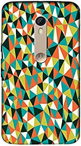 Timpax Protective Armour Case Cover lightweight construction easily slides in and out of pockets. Multicolour Printed Design : A multicolour designers pattern.Specifically Design For : Motorola Moto X-3 ( 3rd Gen )