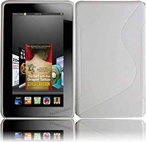 White TPU S Shape Case Cover for Amazon Kindle Fire from HR