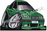 BMW M3 6 Green Car Sticker Decal - Koolart