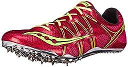Saucony Men\'s Showdown Track Spike Racing Shoe, Red/Citron, 9 M US