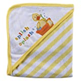 Luvable Friends Animal Bath Tub Hooded Towel, Yellow