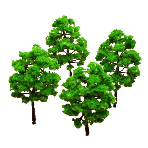 Model-Baum-Zug-Set-Plastik-Stamm-Landschaft-HO-N-10stck