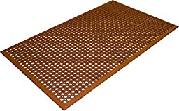 Guardian 54030501TC Safety Chef Industrial Food Service and Utility Rubber Floor Mat, 3' x 5', Terra Cotta