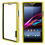 TPU + Plastic Bumper Frame Case For Sony Xperia Z1 / L39h (Yellow)
