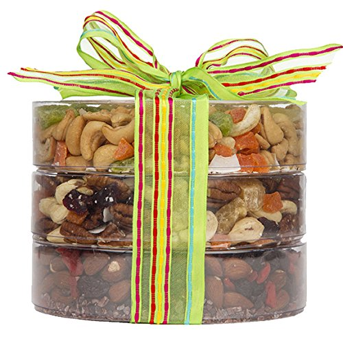 The Exotic Trail Mix Tower, Fruit and Nuts Gift, Perfect as a Thank You Gift or for Any Occasion, Small-Batch Kettle Roasted For Superior Freshness, Nuts Never Tasted This Good (Yogurt Covered Dried Cherries compare prices)