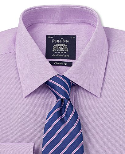 Savile Row Men's Lilac Pinpoint Classic Fit Shirt видеоигра бука saints row iv re elected