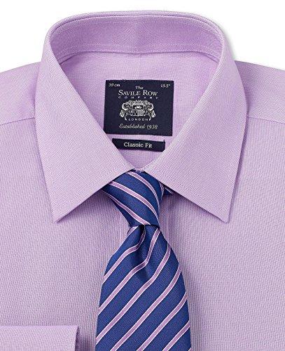 Savile Row Men's Lilac Pinpoint Classic Fit Shirt lord arthur savile s crime cd