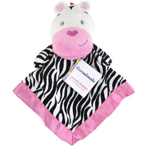 Pink Zebra Baby Blanket front-176171