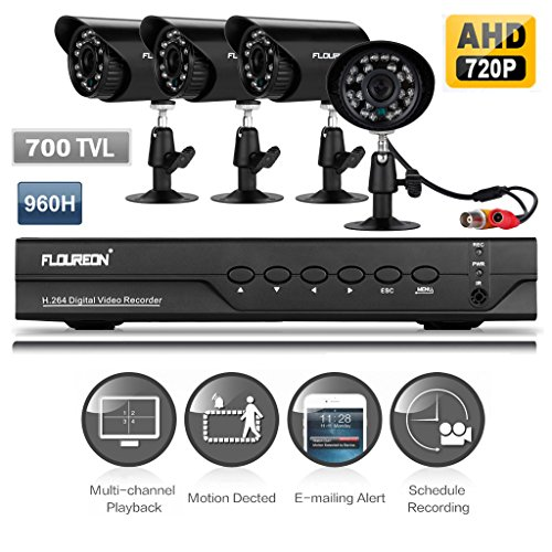Why Should You Buy FLOUREON 4CH 960H Digital Video Recorder AHD 720P CCTV DVR + 4 X Night Vision Out...