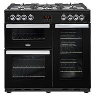 Belling COOKCENTRE 90DFT Freestanding 188L A Black-Kitchen (Freestanding, Large, Gas, 420x 430x 180mm, A, 420x 395x 350mm)
