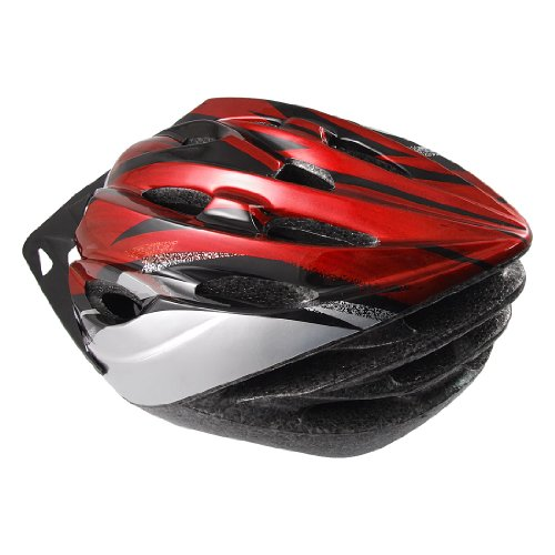 Como Woman Man Gray Red Foam Plastic Road Bike Bicycle Cycling Helmet New