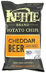 Kettle Cheddar Beer Potato Chips, 5-Ounce (Pack of 15)