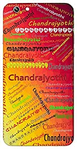 Chandrajyothi (Moon Light) Name & Sign Printed All over customize & Personalized!! Protective back cover for your Smart Phone : Samsung Galaxy Note-3