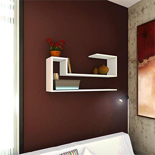 Airy mensola da muro   bianco   mensola parete   mensola libreria ...