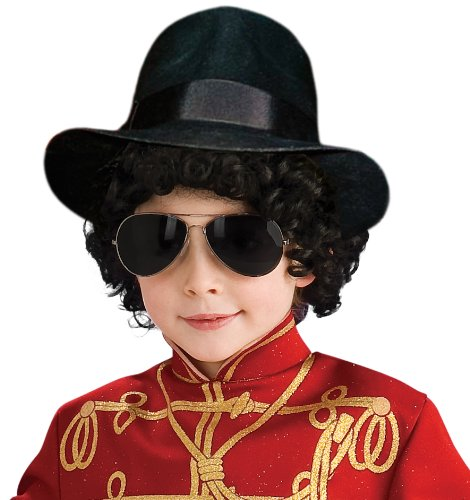 Michael Jackson Costume Accessory, Child's Fedora Hat