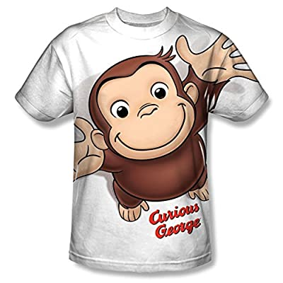 Curious George Hands In The Air All Over Print Front T-Shirt