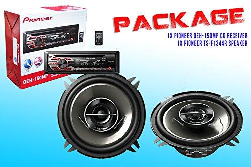 Package ! Pioneer Deh-150Mp Cd-Receiver + Pioneer Ts-G1344R Car Speakers