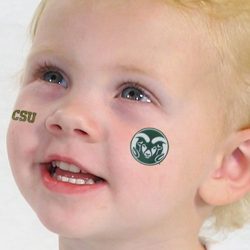NCAA Colorado State Rams 4-Pack Team Logo Temporary Tattoos