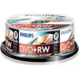 25 pack philips 4 speed dvd+rw discs