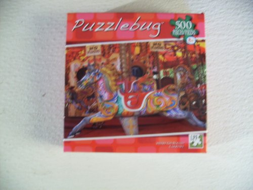 Puzzlebug 500 Pieces Merry Go Round Carrusel Interlocking Puzzle #3700