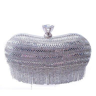 XSLhandbag Donna Poliestere Formale Casual Serataevento Matrimonio Ufficio e lavoro Shopping Borsa da sera , silver