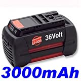 PELTEC@ Premium Battery 36 V 3,000 mAh Li-Ion for Bosch Rotak 43 / AKE 30 / Rotak / GBH / AHS 54-20 / GSR / GSB / GKS / 2607336002 / 2607336003 / 2607336004 / 2607336107 / / BAT818 / BAT836 / 2607336002 / 2607336004 / 2607336107