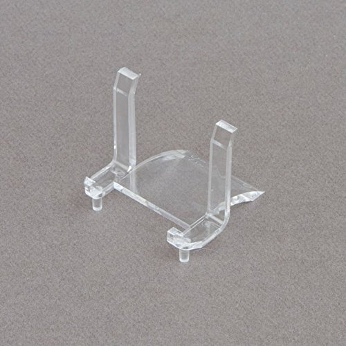 "(1) 2"" Clear Rectangular Display Stand Holder Easels For Pocket Watch Police Badge Belt Buckle Sports Cards Iphone Ipad Tablets"