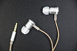 In-Ear Earbuds Metal Wired Earphones Corded Headphone Stereo bass Headsets with Microphone and call key compatible with iPhone Android windows Smartphone and other devices