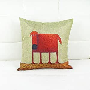 Throw Pillows With Washable Covers : Amazon.com - Luxbon - Machine Washable Cotton Linen Sofa Couch Chair Throw Pillowcase Cushion ...