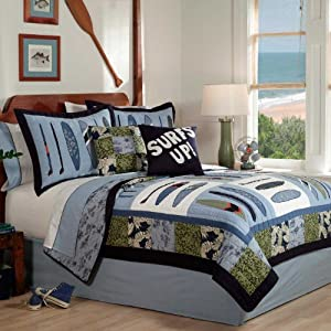 Catch a Wave Full/Queen Quilt and 2 Shams by Pem America