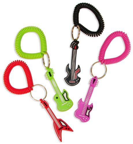 Fun Express Rock Star Rubber Key Chains (1 Dozen)