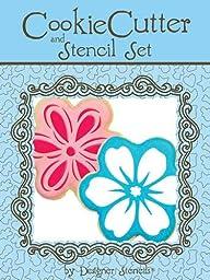 Six Petal Flower Cookie Cutter and Stencil Set by Designer Stencils
