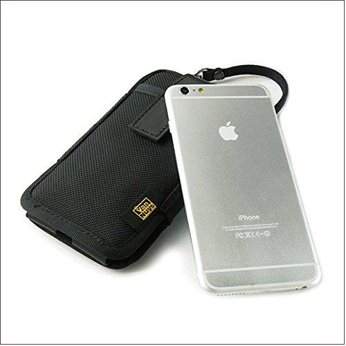 バンナイズ 完全無欠 の iPhone6 ( アイフォン シックス ) Plus ( プラス ) 用 薄型 キャリング ケース / コンパクト   バリスティックナイロン 製 ( ブラック )