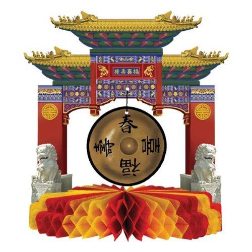 Asian Gong Centerpiece