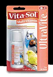 8in1 Ecotrition Vita-Sol Multi-Vitamin Cockatiels Parakeets  2 Ounce