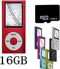 Btopllc Rouge NOUVEAU Lecteur MP4/MP3-avec 16GB 16Go de carte Micro SD-1,81 Pouces TFT ecran lecteur audio, Audio Player, Media Player, Voice Recorder